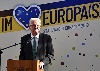 The focus is on Europe at the 2019 Stallwächterparty